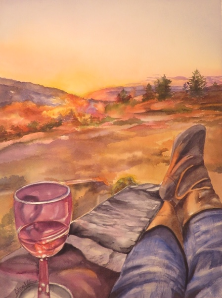 Sunset Wine Boots